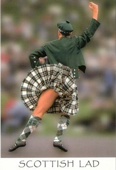 The kilt - nice legs and uh.  my oh my oh my if it flipped just a teensy tiny bit higher.