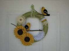 Image result for bird summer wreath