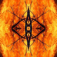 Featured Art - Fire Medallion  by Sarah  King