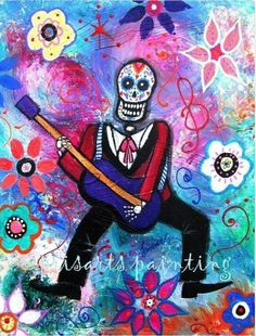 Day of the Dead art.