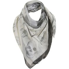 Miss Selfridge Cream Etherial Skull Scarf (155 NOK) found on Polyvore