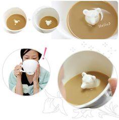 hidden animal cup with polar bear <3