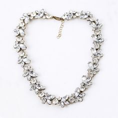 Exquisite Faux Crystal Embellished Alloy #Necklace For Women