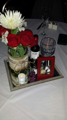 My sisters Wedding Centerpiece (Italian theme)