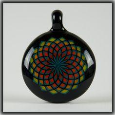 "Heady Hunter Borosilicate Glass Art Gallery   Bo Howe ""Sunrise"" Fillacello Pendant"