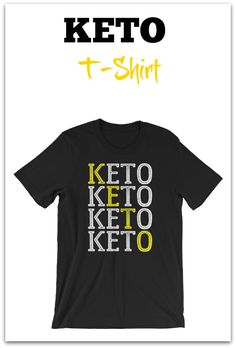 Keto T-Shirt for men and women - low carb - ketosis - atkins - t shirt - gift - gym - work out Low Carb Ketosis, Keto Diet For Beginners, Atkins, Healthy Fats, Branded T Shirts, Weight Loss, Gym, Mens Tops, Women