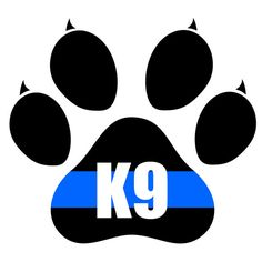 4x4 Inch Reflective Decal K9 Tactical Police by TacticalTextile