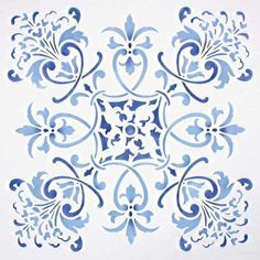 Florence Tile Wall & Furniture Stencil