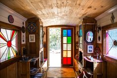 Erin's Eclectic Mystic Home & Traveling Tarot Caravan from Apt Therapy those doors!