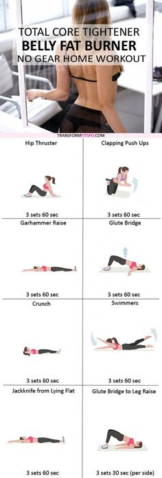 Lose 1 Pound Doing This 2 Minute Ritual - Belly Fat Burner Workout Fitness Workouts, At Home Workouts, Fitness Tips, Stubborn Belly Fat, Lose Belly Fat, Lose Fat, Short Workout, Reto Fitness, Belly Fat Burner Workout