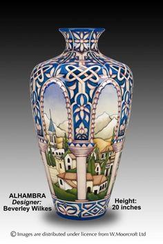 Moorcroft Pottery Alhambra Designer Beverley Wilkes