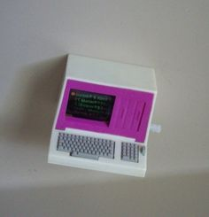 Vintage Barbie Doll  mini Wind up Computer from Action Accents,1980s toy. $15.00, via Etsy.