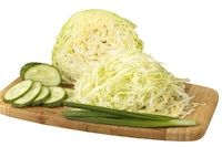 Dill Pickle Kraut -- Cabbage and cucumbers, sliced
