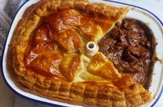 Steak, kidney, ale and mushroom pie recipe - This traditional British recipe has delicious thick gravy and can be made without kidney. A rich and satisfying pie. Mushroom Pie, Pie Recipes, Cooking Recipes, Steak Recipes, Dinner Recipes, Curry Recipes, Steak Pie Recipe, Recipies, Steak And Kidney Pie