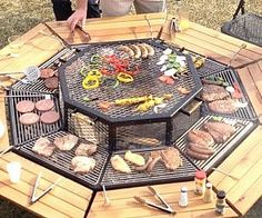 BBQ Grill Round Table