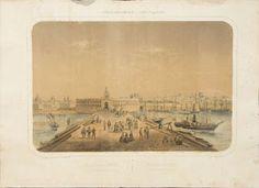 FERVOR DEL ARTE ARGENTINO: Las primeras Litografias.Litografia en colores por Deroy año 1861 (Paris). Vista tomada de la Plaza de la Aduana