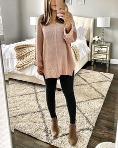 Casual Fall Outfits for Women- Winter Outfits for Women Komplette Outfits, Cute Fall Outfits, Fall Winter Outfits, Autumn Winter Fashion, Trendy Outfits, Winter Sweater Outfits, Black Jeans Outfit Winter, Black Leggings Outfit Fall, Winter Teacher Outfits