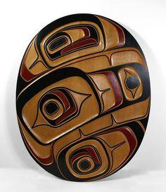 Clinton Work, Red Cedar Killerwhale Panel, Northwest Coast Native Art