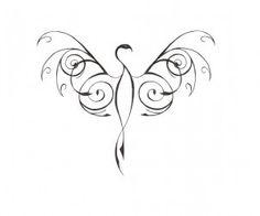 phoenix bird tattoo | thin_stylized_phoenix_bird_tattoo_design.jpg