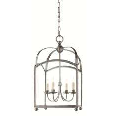 Entryway light?    Chart House Medium Arch Top Lantern in Antique Nickel by Visual Comfort CHC3422AN