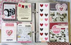 Monthly Moments Love Layout by Melissa Phillips for Papertrey Ink (February 2014)