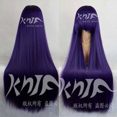 Kill Qianmo purple hair accessories synthetic straight hair jewelry extension for cosplay wigs Wig Hairstyles, Straight Hairstyles, Dark Purple Hair, Cosplay Wigs, Anime Cosplay, Anime Wigs, Hair Jewelry, Jewelry Sets, Synthetic Hair