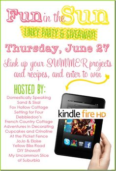 Fun in the sun summer linky party and giveaway