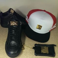 #MasonGarments Black Tia Sneakers, #HighSwag  Team Stripes Snapback & #PopularDemand Coin available pouch www.houseoftreli.com