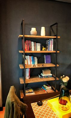 Our industrial shelves come with great functionality. Place them anywhere from your living room to your kitchen or study  #livingroom #kitchen #study #Bookshelf #Furnituredesign #furniture #interiordesign #shelves #metal #Dubai #AUH #theatticdubai