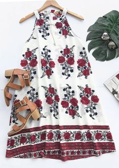 Feeling iffy about going out at night in a really dress? Slip into Rose Is A Lie Floral A-line Dress for a look that says you're owning this awesome outfit.