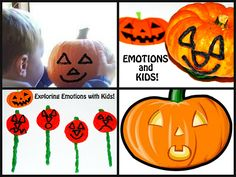 "Jack-o-lantern ""feeling faces"" - helping kids explore emotions/feelings through PLAY!"