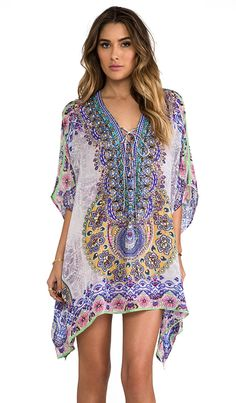 Shop for Camilla Portable Paradises Short Lace Up Kaftan in Mir at REVOLVE. Free 2-3 day shipping and returns, 30 day price match guarantee.