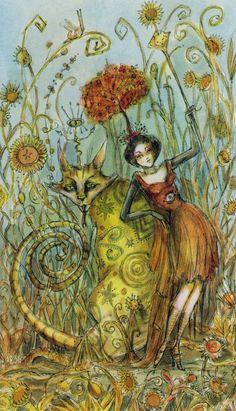 Queen of Wands by Paulina Cassidy (Paulina Tarot)