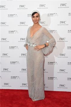 Tuba Buyukustun attends the IWC Filmmaker Award during day two of the 13th annual Dubai International Film Festival held at the One and Only Hotel on December 8, 2016 in Dubai, United Arab Emirates.