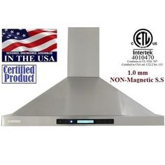 """Ordered - arrives by 2.17 XTREMEAIR PX15-W42 42"""", LED lights Baffle Filters W/ Grease Drain Tunnel Wall Mount Range Hood - Sears"""