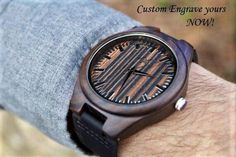 Wood Watch, FREE ENGRAVING, Wooden Watch for Men, Gift for Him, Mens Wood Watch, Personalized Wooden Watch, Wedding Gift, Wood Watch, Watch by AxMen on Etsy https://www.etsy.com/listing/234705594/wood-watch-free-engraving-wooden-watch
