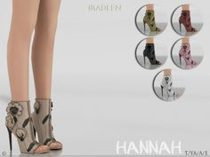 Hannah Shoes for The Sims 4