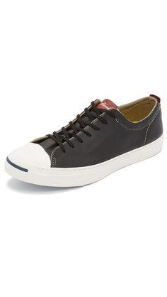 CONVERSE Jack Purcell Jack Tumbled Leather Sneakers. #converse #shoes #sneakers