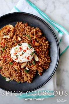 Spicy Couscous with Yogurt via @PureWow