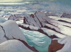 Félix Vallotton (Swiss, 1865-1925), Hautes Alpes, glaciers and snow peaks, 1913. Oil on canvas, 73 x 100 cm.