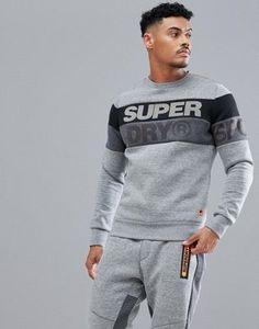 Superdry Sport Gym Tech Cut Crew Neck in Grey Casual Wear For Men 1292a469b2c