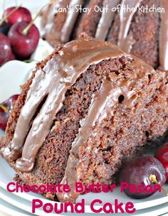 Chocolate Butter Pecan Pound Cake Recipe from Can't Stay Out of the Kitchen Chocolate Icing Recipes, Chocolate Butter, Chocolate Desserts, Chocolate Frosting, Cake Mix Recipes, Pound Cake Recipes, Dessert Recipes, Dessert Ideas, Cake Mixes
