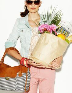 wish I looked that glamorous while shopping.... @Emily Osterhus @Chiara Fagan