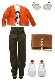 """""""Untitled #90"""" by muvac ❤ liked on Polyvore featuring Balenciaga, Jean-Paul Gaultier, ASOS and Yves Saint Laurent"""