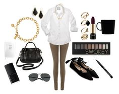 """""""city brave"""" by plutoeyes on Polyvore featuring J Brand, Marc by Marc Jacobs, Kendra Scott, New Look, Ray-Ban, Kate Spade, Merona, Forever 21, Lancôme and NARS Cosmetics"""
