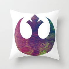 Star Wars Rebel Color Throw Pillow by foreverwars - $20.00