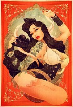 Pin-Up, Japon et Poster Rétro – 18 Illustrations de ONEQ