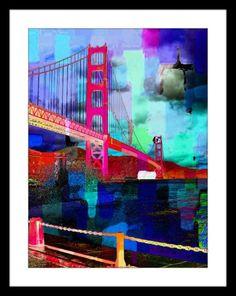 Psychedelic San Fransisco Bridge