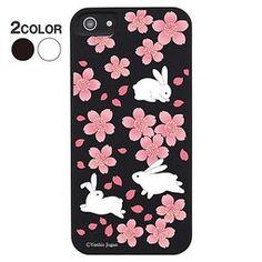 露天拍賣 日本究極!日本製【iphone5 手機保護殼 珣麗和風系列】櫻兔 硬殼