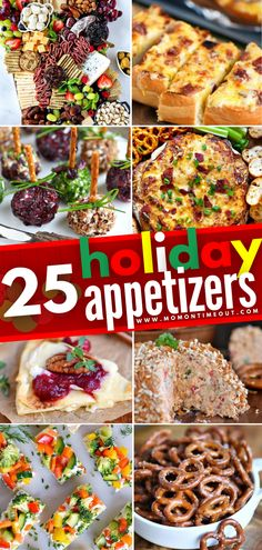 Take the stress out of Thanksgiving menu planning with this assortment of Holiday Appetizers! These surefire crowd-pleasers are easy, festive, and delicious. With more than 25 of the most amazing recipes, this year's holiday entertaining will be the best it has ever been! Christmas Recipes, Holiday Recipes, Holiday Ideas, Holiday Appetizers, Appetizer Recipes, Amazing Recipes, Yummy Recipes, Good Food, Yummy Food